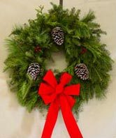 --Popular Balsam Mixed-White Pine-Cedar Wreath 22